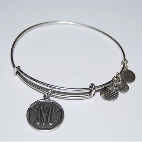 "Alex and Ani Jewelry - Alex & Ani Initial ""M"" Rafaelian Silver Bracelet"
